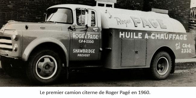 Historique Pétrole Pagé - Camion citerne datant de 1960